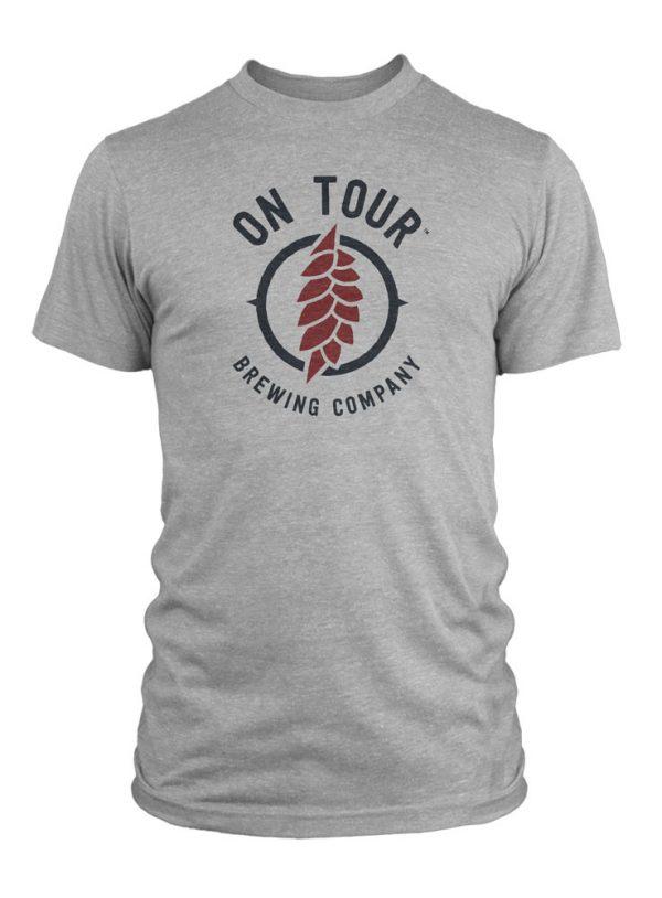 On Tour Brewing Men's Tee Shirt - Gray