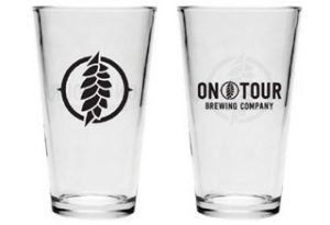 On Tour Brewing Pint Glasses
